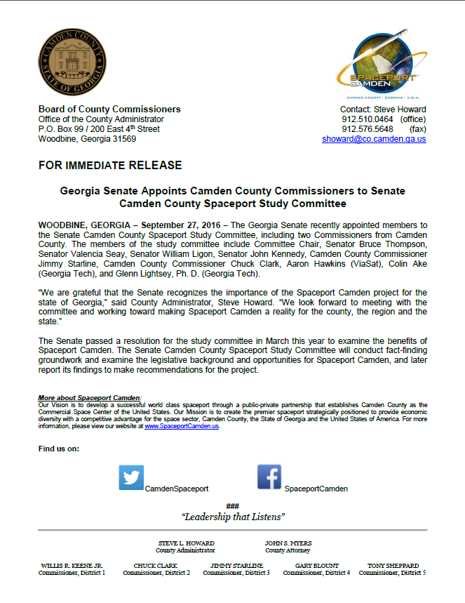 camden-county-spaceport-study-committee-press-release